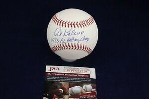 Al-Kaline-TIGERS-Signed-Auto-OML-Baseball-W-1955-AL-Batting-Champ-JSA-WPP