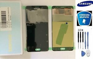 Cambio Display Touchscreen Samsung A510 Galaxy A5 2016 Nero Vetrino LCD Schermo