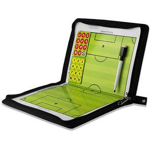 Football Champion Tactics Folder Magnetic Coaching Board/Book Game Plan HOT