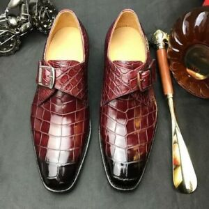 mens formal shoes crocodile texture leather casual dress