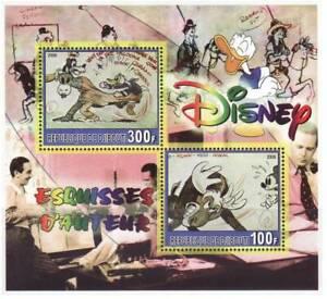 Disney Cartoons -  Sheet of 2 Stamps M1121