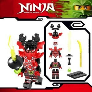 Ninjago-General-Kozu-ZX-Ninja-Meister-des-Spinjitzu-Custom-Lego-Mini-Figur-Spielzeug