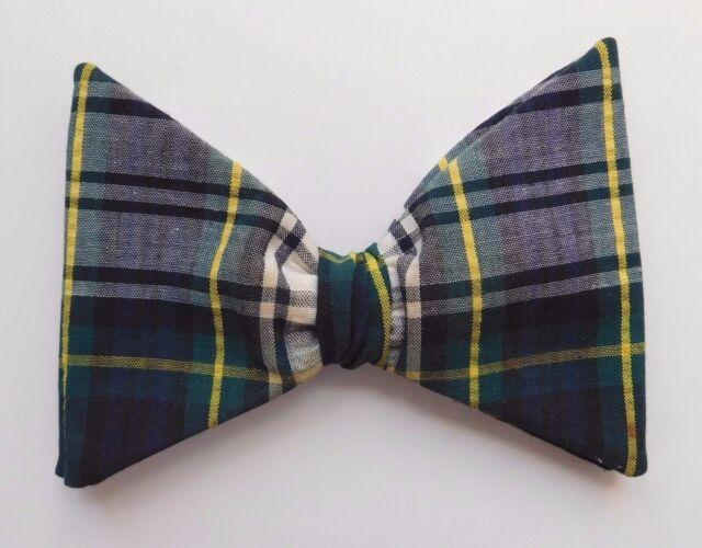 Vintage Tartan bow tie Gordon dress modern design plaid royal rust resistant