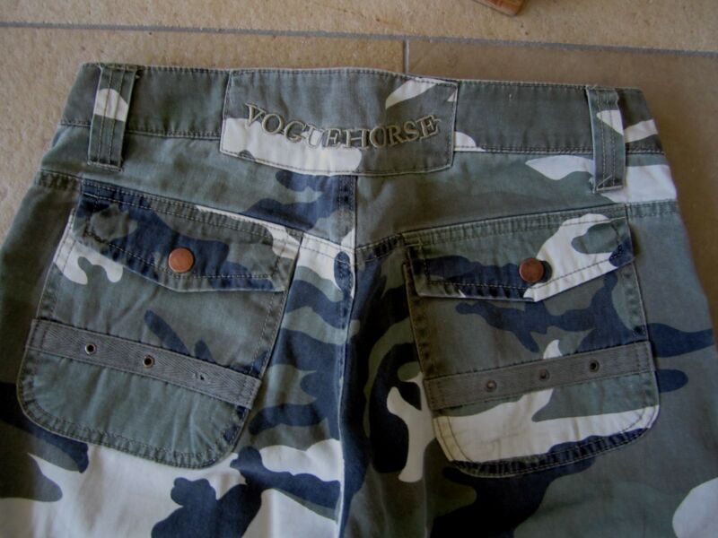 100% Wahr Vogue Horse Jeans Hose Camouflage W 26