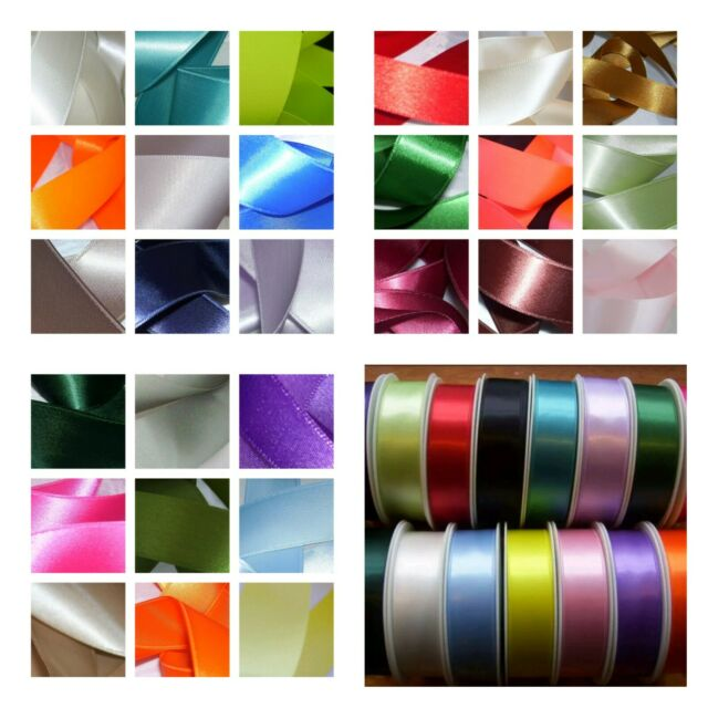 Satin Ribbon 10MM /& 16mm Wide 24 Colours available 2 Metre Lengths