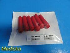 Lot Of 6 Drucker Company 7713031 Tube Holders For Centrifuge Red 100mm 24556