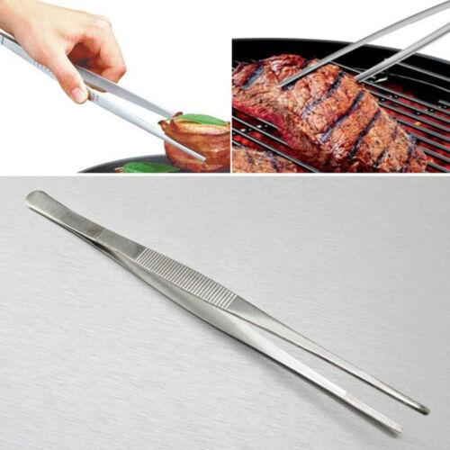 Stainless Steel Tweezer Long Food Tongs BBQ Kitchen Chef  DIY Tool 12.5-30cm