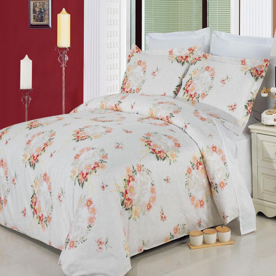 LUXURIOUS Liza Printed 100% Egyptian Cotton Duvet Cover Sets-4 Sizes