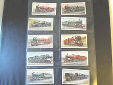 1930 Wills RAILWAY LOCOMOTIVES railroad  trains set 50 cards Tobacco Cigarette