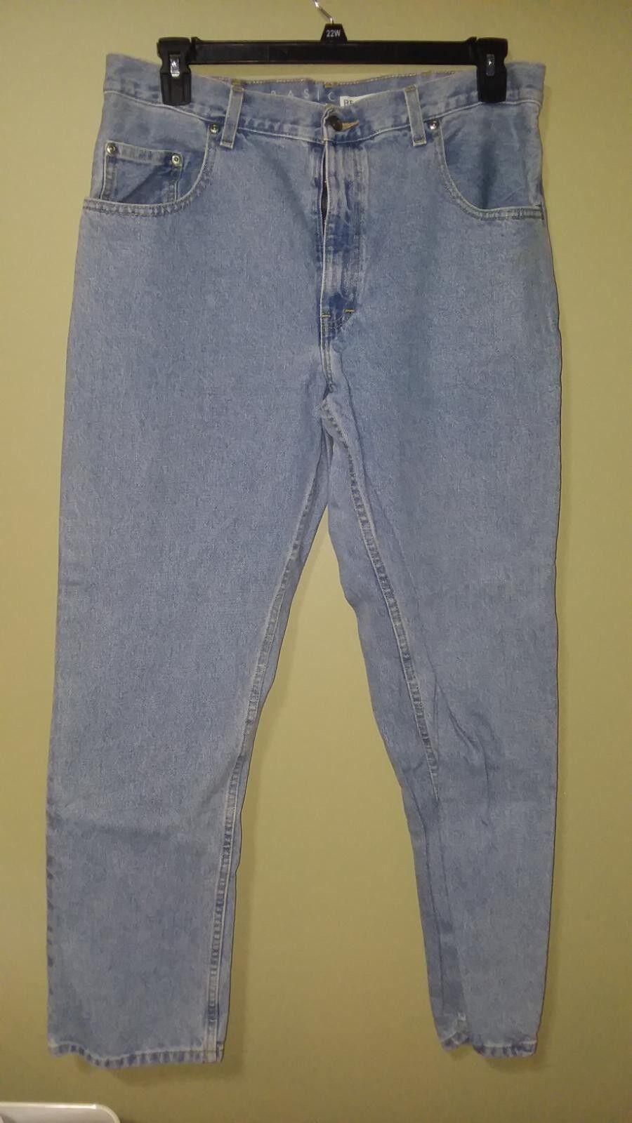 Basic Editions regular fit light wash denim jeans W36 X L32
