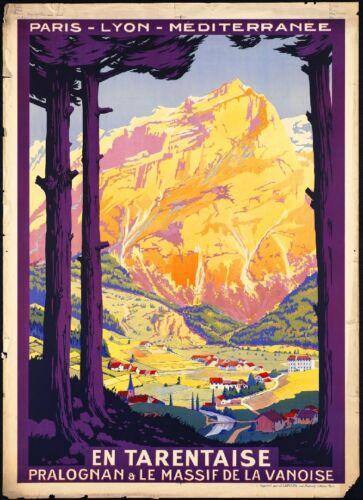 En Tarentaise Paris France French European Travel Art Poster Advertisement