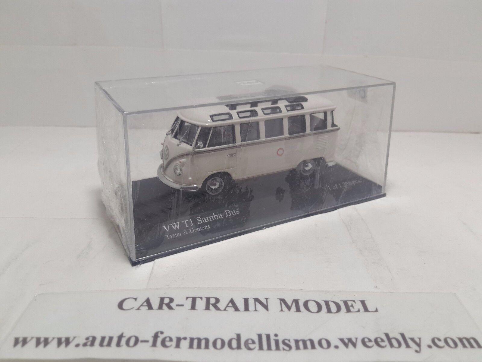 VW T1 Samba Bus  Taeter & Ziemons  - Minichamps - 1:43 1/43 1-43