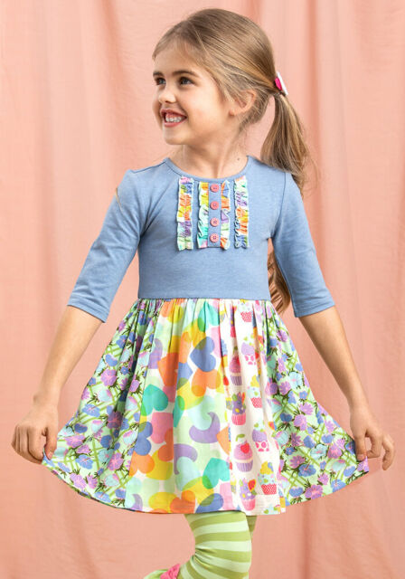 MATILDA JANE Take A Spin Dress Girls Size 8 New With Tag Lets Go Together