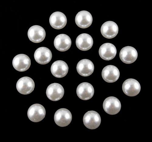 lose Halbperlen Halbperlen rund 14 mm weiß 20 Stück