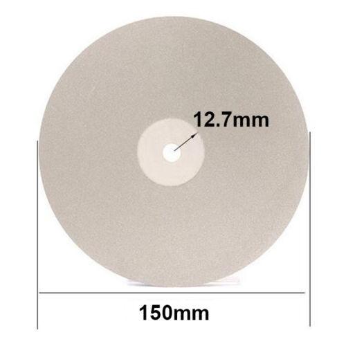 "6/"" 150mm Diamond Coated Flat Lap Wheel Jewelry Polish Grinding Disc 80~3000 Grit"