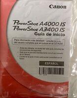 Canon Powershot A4000 Is A3400 Is Guide Guia De Inicio Espanol Spanish