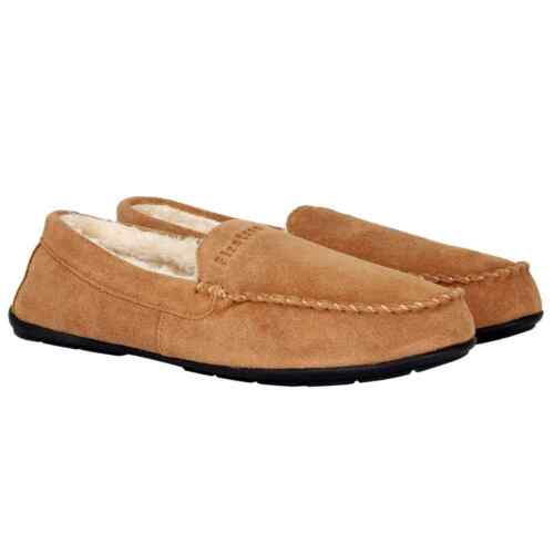 Official FIRETRAP Mens 7 Suede Moccasin Leather upper Slip on Slippers Mules NEW
