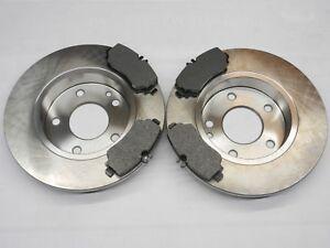 2 Bremsscheiben voll 260mm Bremsbeläge vorne für MERCEDES-BENZ A-KLASSE W168