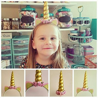Decorative Magical Unicorn Horn Head Party Hair Headband Fancy Dress Costume