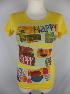 Angeles T Motif Heureux Los S Humanity 36 Jaune shirt Coloré Nouveau 5w1Zqx0