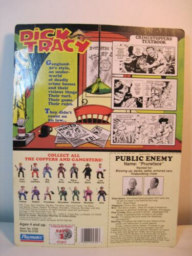 5/'/' DICK TRACY PRUNFACE ACTION FIGURE PLAYMATES 1990