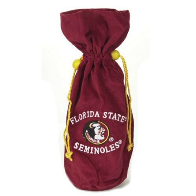 NCAA Florida State Seminoles Wine Bottle Drawstring Bag - 14 inch NEW