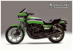 Details About Kawasaki Poster Z1000r Kz1000r Eddie Lawson Replica Suitable To Frame
