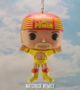Custom Funko Pop Culture Hulk Hogan Hulkamania Christmas Ornament Wwf Champion Ebay