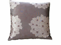 Plum pink Aubergine retro flower design scatter Pillow cushion cover in Biarritz