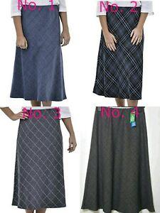 75cba7707 Image is loading Women-039-s-Winter-Skirts-Straight-Flare-Herringbone-