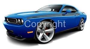 2009 2011 Dodge Challenger R T Muscle Car Cartoon Tshirt 9462 Rt