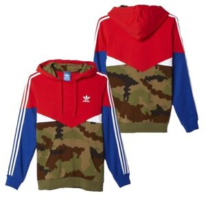 Details about New Originals Adidas Camo Jacket Multicolor Red Hoodie Camouflage AY8106