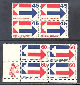 US Stamp (L125) Scott# E22-E23, Mint NH OG, Nice Block, Special Delivery
