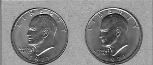 1971-P-AND-1971-D-UNCIRCULATED-EISENHOWER-DOLLARS-2-COIN-LOT