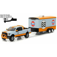 Greenlight 2015 Ford F-150 Gulf Oil #68 Hitch & Tow 1:64 Light Blue 32070-B