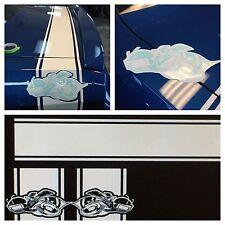 Dodge Challenger Scat Pack Rear Super Bee Stripes Vinyl Sticker Decal Logo Mopar