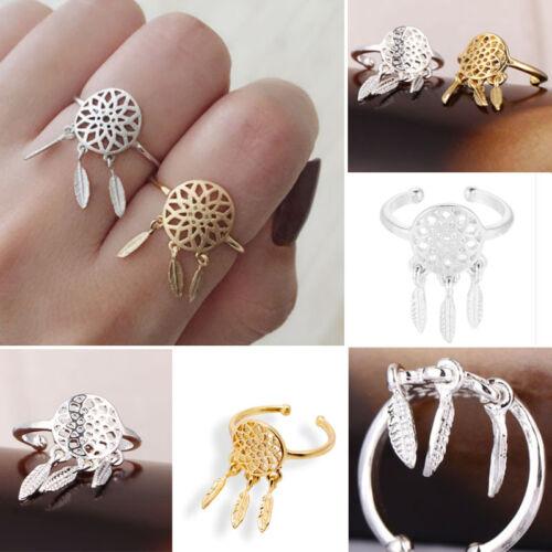 Girl/'s Women/'s Creative  Fine Jewelry Dreamcatcher Rings Feather Charm Pendant