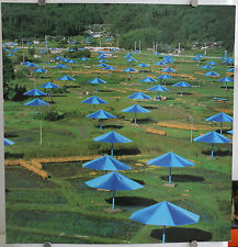 CHRISTO AND JEANNE-CLAUDE SIGNED PHOTOGRAPH. THE UMBRELLAS JAPAN.