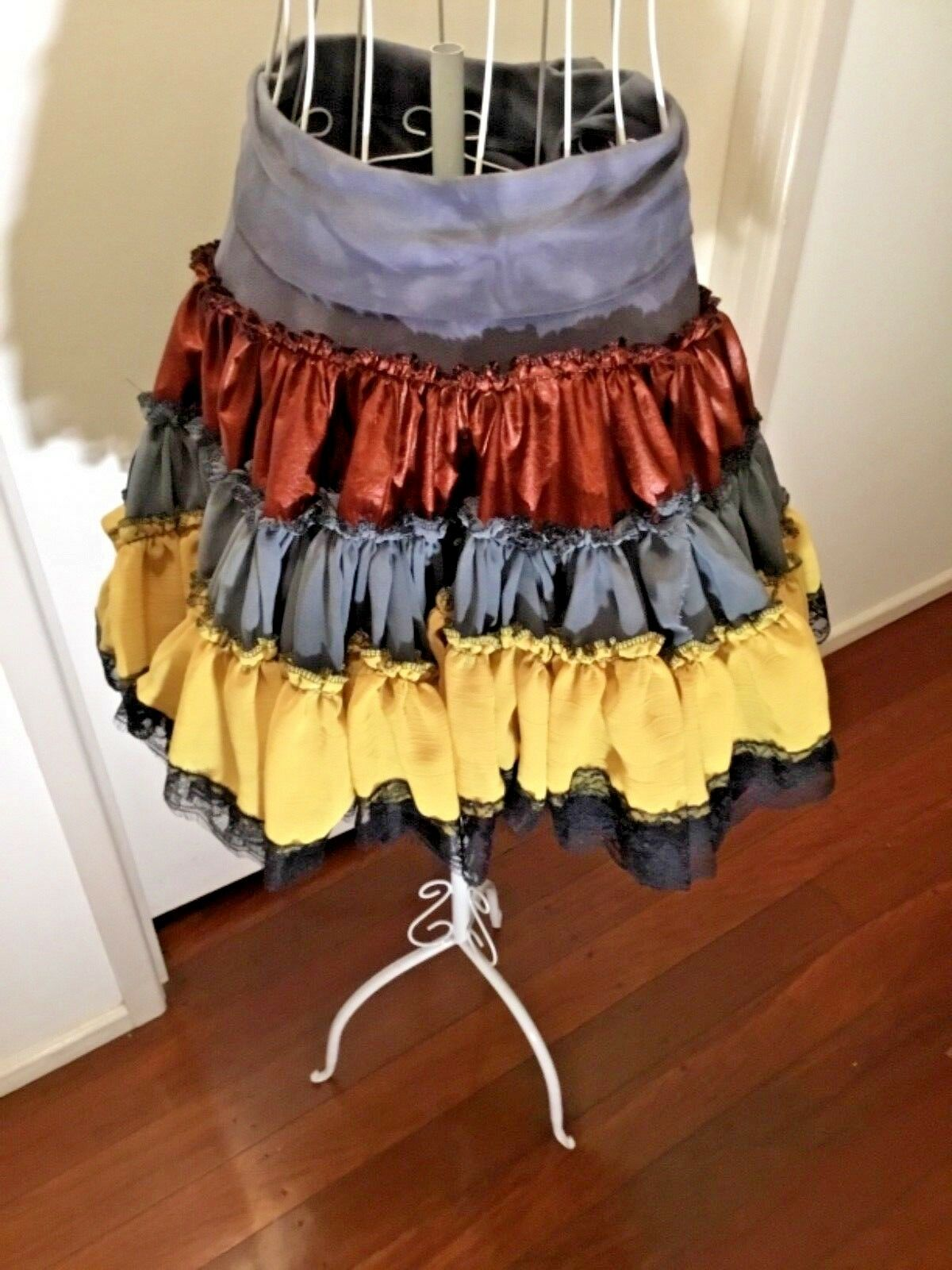 WOODLAND FAIRY WEDDING SKIRT GYPSY SKIRT FESTIVAL SKIRT TATTErot SKIRT