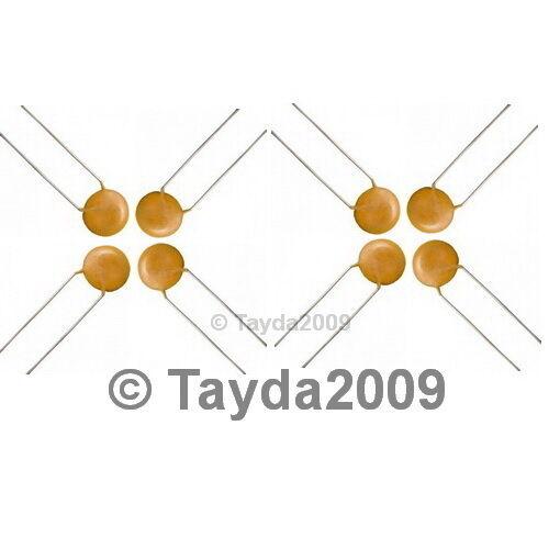 30 x 0.1uF 50V Ceramic Disc Capacitors - Free Shipping