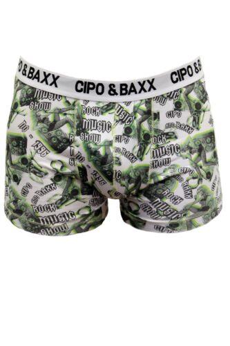 CIPO /& BAXX DESIGNER HERREN BOXER SHORT PANTS UNTERWÄSCHE GR S M L XL BRANDNEU