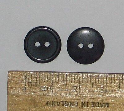 10 pack Large Very Dark Blue plastic Buttons 25mm 2 hole matt British Ref:18725