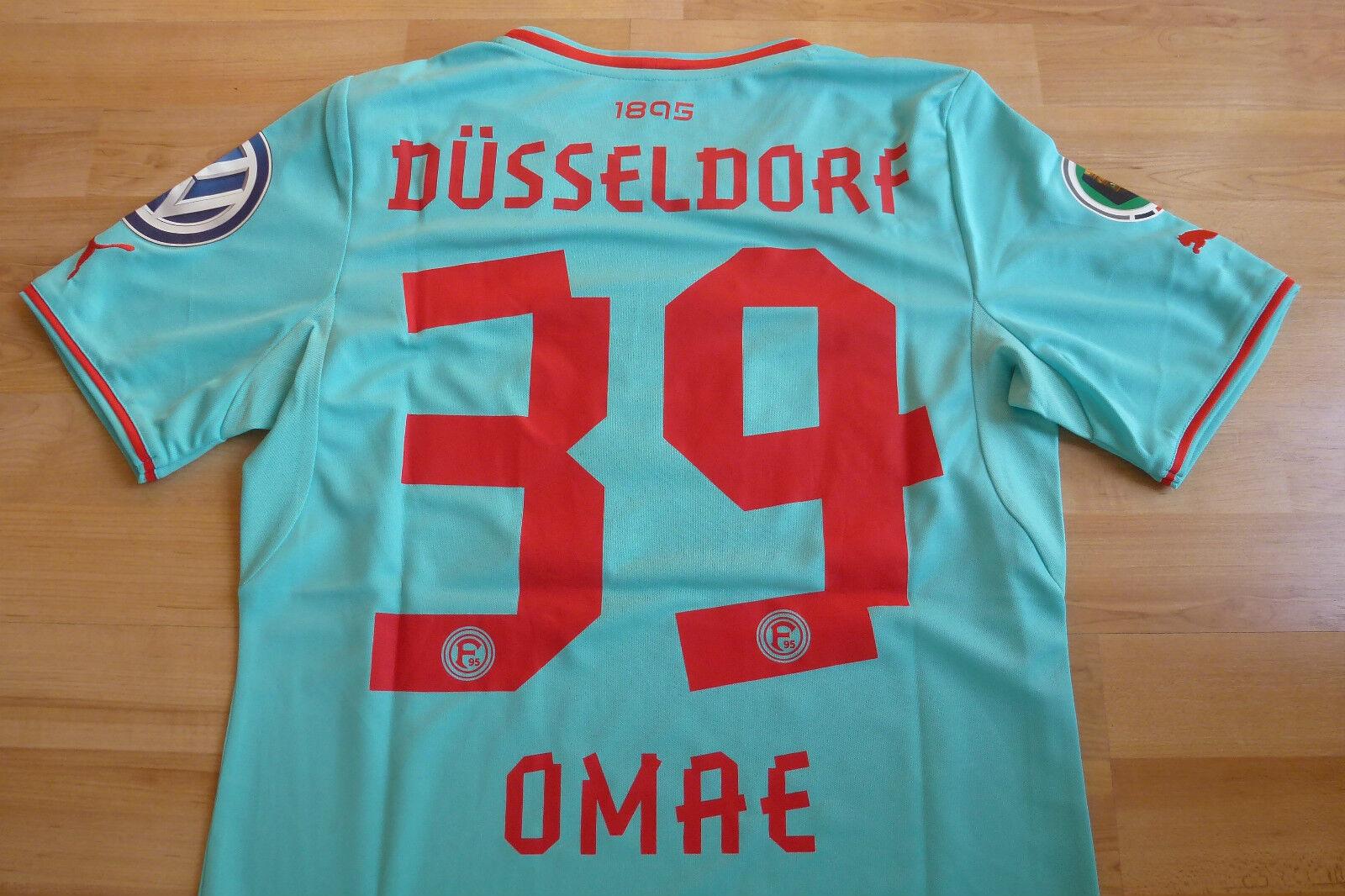 Fortuna Düsseldorf Pokal Trikot hellblau 2013-14   39 Genki Omae Gr.S  DFB Patch