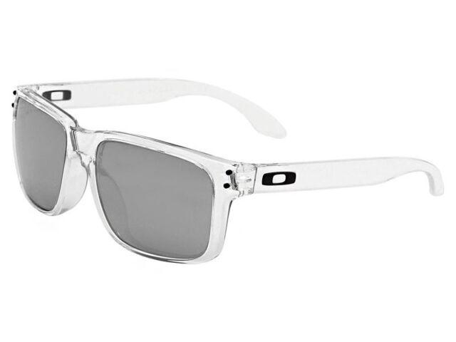 88f86314497a5 Oakley Holbrook Asian Fit Polished Clear Frame chrome Iridium Lenses ...