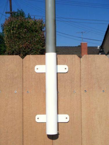 antenna fiberglass ladder ramp ground wall deck dock 22/' FT FLAG POLE /& MOUNT