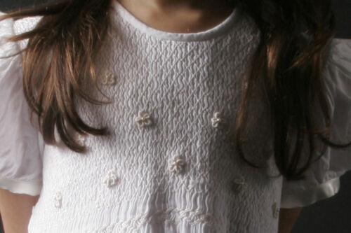 Julia /_ Size 8/_Free Shipping First Communion Dress Hand Smocked