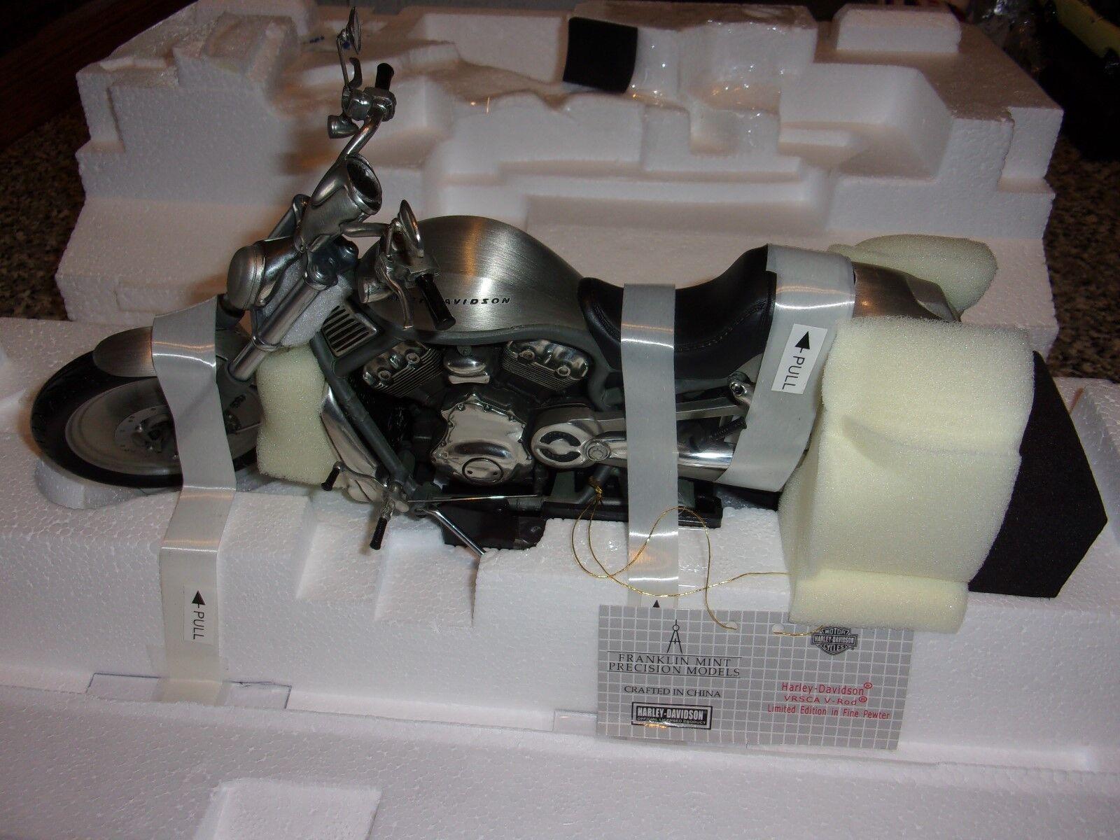 2002 Harley Davidson VRSCA V-Rod - PEWTER  - Franklin Mint