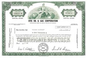 Otis-Oil-amp-Gas-Corporation-gt-1971-Colorado-old-stock-certificate-share