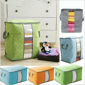 Foldable-Home-Closet-Storage-Bag-Organizer-Box-Anti-bacterial-Cloth-Quilt-USA-EN