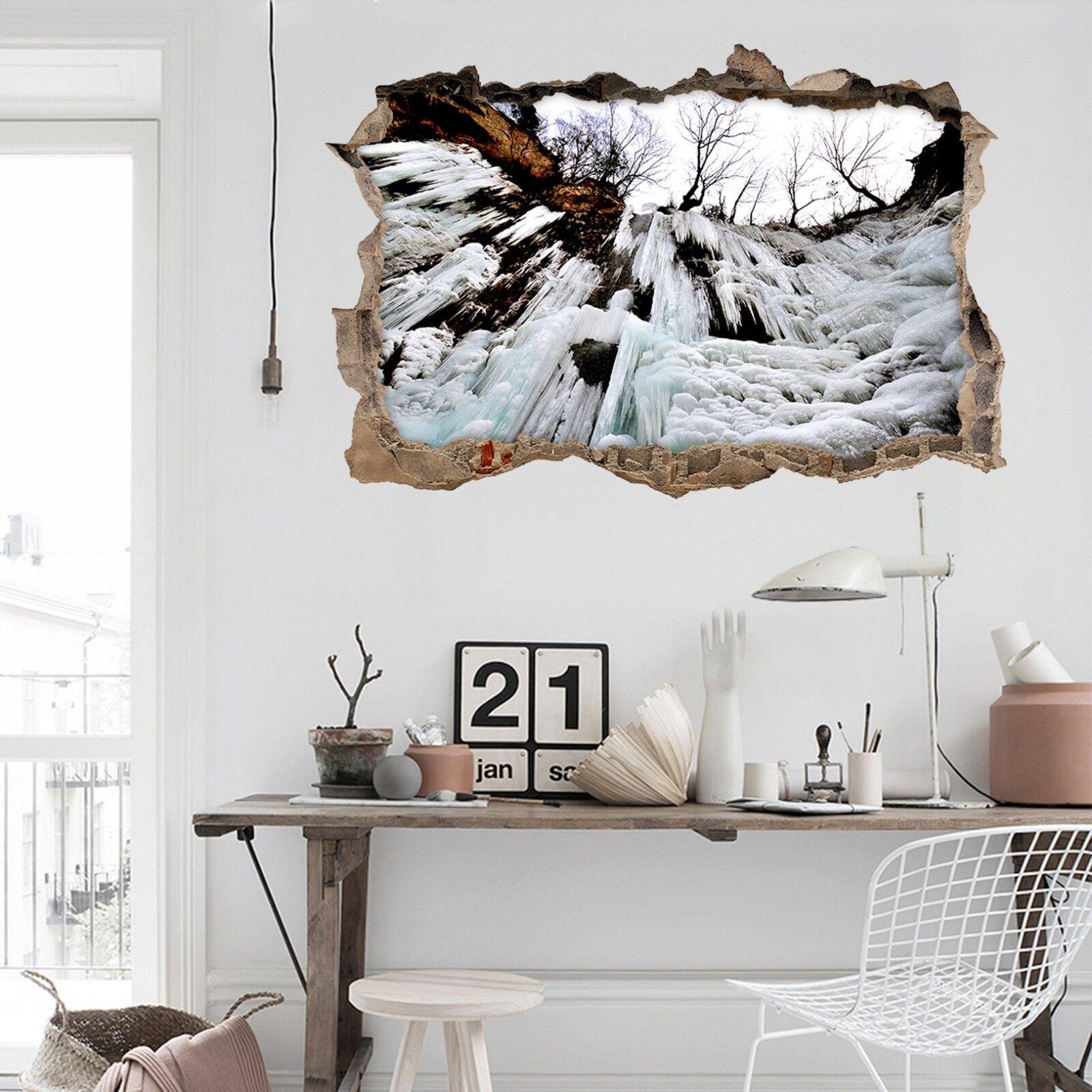 3D Höhle Eiszapfen Mauer Murals Mauer Aufklebe Decal Durchbruch AJ WALLPAPER DE